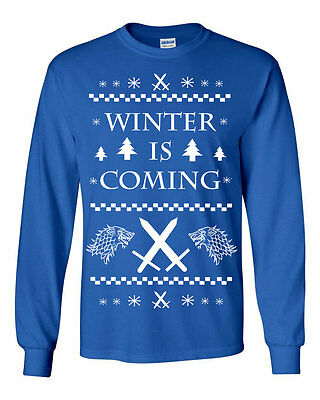 360 Winter is Coming Long Sleeve Shirt wolf stark house game king thrones new