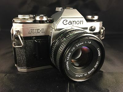 Canon AE-1 35mm SLR Film Camera with FD 50 mm lens Kit (CANADA SHIPPING ONLY)