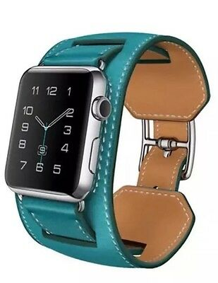 Apple Watch Cuff Bracelet Strap For iWatch 38mm Blue Bleu Jean Hermés Style