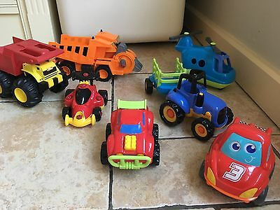 Early learning centre elc bundle of cars, helicopter and truck toys