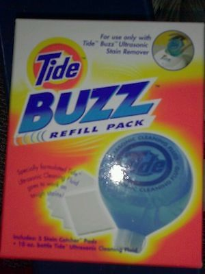 "Tide Buzz Refill plus 5 ""STAIN catcher pads"" + 15  extra ""catcher pads"""