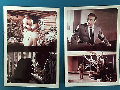 1967 You Only Live Twice Set of 2 Color Double Photos Sean Connery