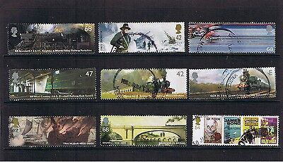 GB 9 x MODERN HIGH VALUE USED COMMEMORATIVE STAMPS