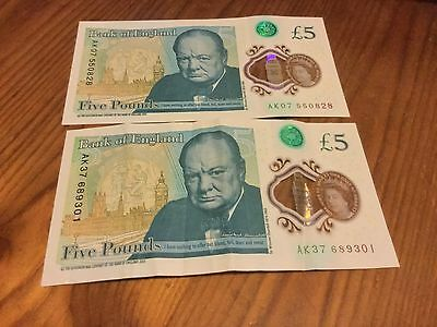New jenuine £5 notes for sell!