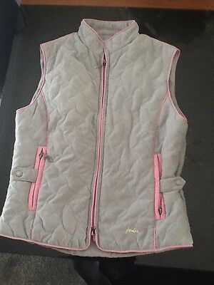 Equestrian Joules Grey And Pink Gilet Size 10