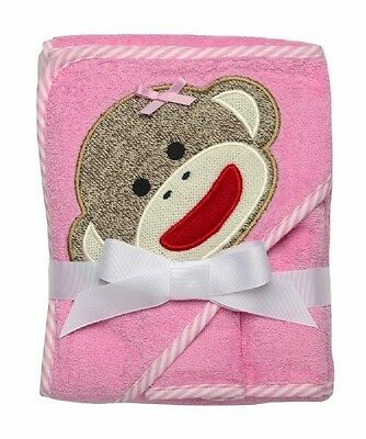 Girl Baby Shower Gift Hooded Bath Towel With Two Face Washers