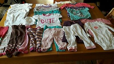 large bundle of 3-6 month girls clothes VGC