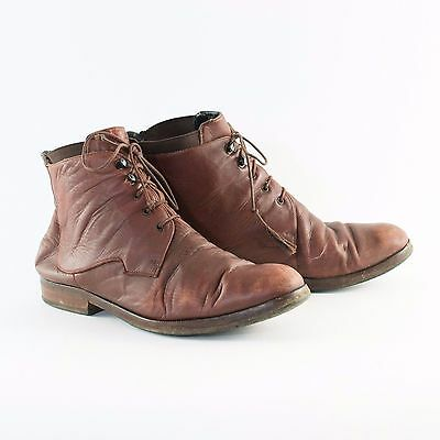 True Vintage 90's Women's Tan Brown Laced Leather Ankle Boots UK 5 EU 38 US 7