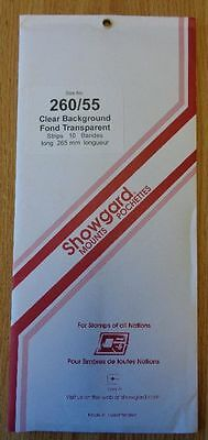 Showgard size 260/55 clear hingeless stamp mount opened pack 1st quality