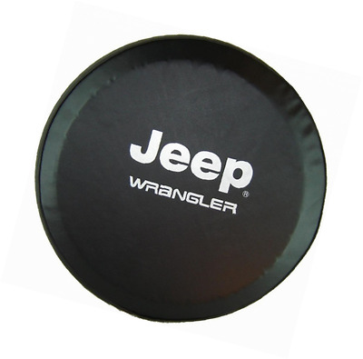 "SpareCover abc-j-wrangler-32 ABC Series Black 32"" Tire Cover with Jeep Wrangler"