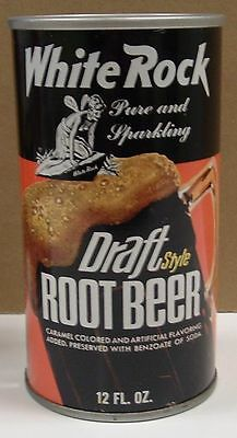 White Rock  Steel Root Beer  Soda Can