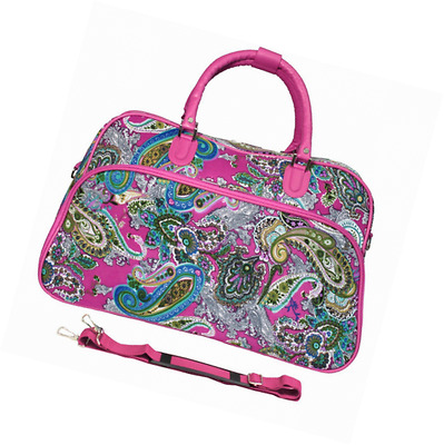 World Traveler Multi Paisley 21-Inch Carry-On Duffel Bag, Pink Multi Paisley
