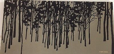 VINTAGE MARUSHKA TREES SCREEN PRINT ART GRAND HAVEN PICTURE Early Rare!