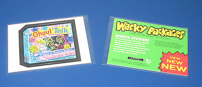 2010 Topps Wacky Packages Abrahms Book Insert RARE 2nd VOL BONUS STICKERS Pack