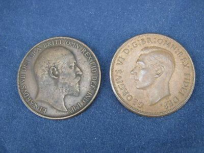 1902 & 1949 Great Britain One Penny