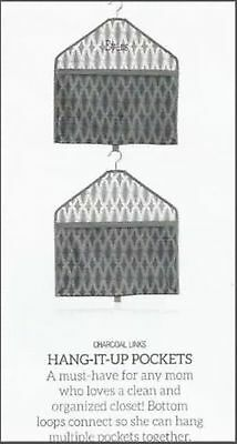 Thirty-One Hang It Up Pocket Charcoal Links