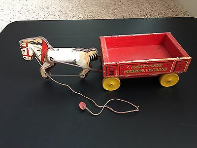 Scarce Vintage Fisher Price #733 General Hauling from the early 1940's
