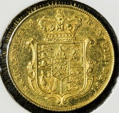 Rare 1825 Bare Head Gold Sovereign Uncirculated