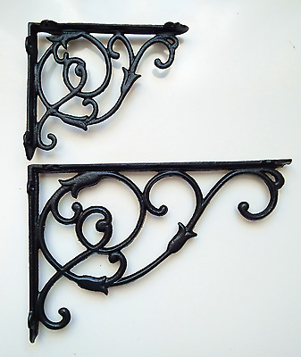 Victorian style Cast Iron Ornate Shelf Bracket in 2 sizes and 3 colours