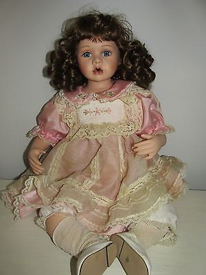 Vintage Porcelain/cloth Palmary Three Heart Collection Doll [291/2000]