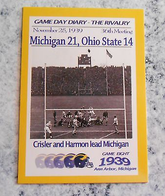 TK Legacy Michigan Game Day Diary 1939 Ohio State The Rivalry #GR1939