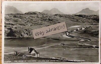 SUTHERLAND RPPC 1950s J B White. Coulmore Coulbeg Stack Polly From Stoer