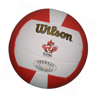 Wilson Volleyball Canada Gold Official Game Ball-White/Red