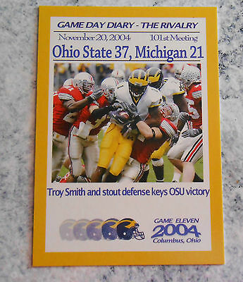 TK Legacy Michigan Game Day Diary 2004 Ohio State The Rivalry #GR2004