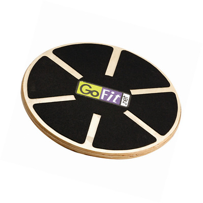 GoFit Adjustable Wooden Wobble Board for Core and Ab training, Rehab, Improved P