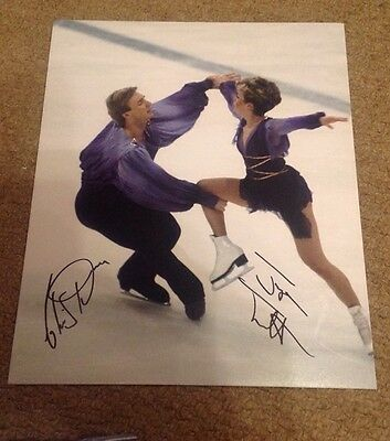TORVILL AND DEAN  -  ICE DANCE  SIGNED  8x10 Inch COL PHOTO - UACC