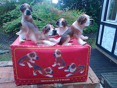 Beagle puppies (set of 4) by Minster model No7114 collection