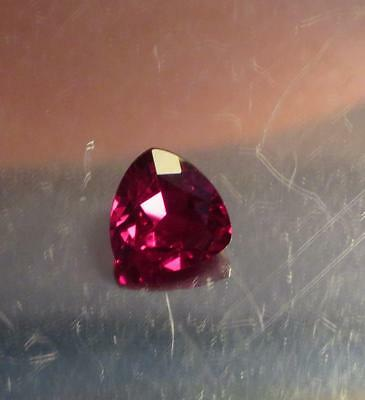 AAA 13.00 Ct Lab Created Synthetic Pigeon Blood Red Ruby Trillion Gemstone
