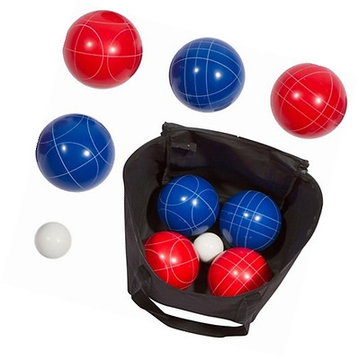 Trademark Innovations Bocce Ball Set, 9 Balls with Carry Case