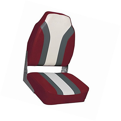 Deluxe High Back Seat Red/charcoal/white