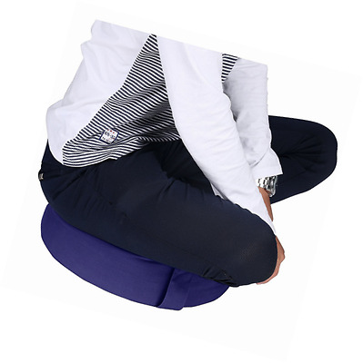 Trademark Innovations Cotton Yoga Meditation Round Cushion with Carry Handle, Bl
