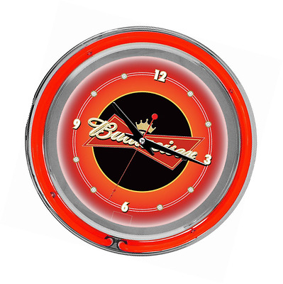 Trademark Global Budweiser Double Ring Neon Wall Clock, 14-Inch