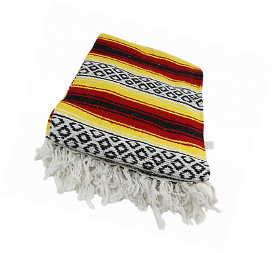 Yogavni Yogavni-Mexican-Blanket-Yellow Deluxe Extra Thick and Soft Mexican Yoga