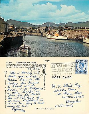 s06831 Annalong, Down, Northern Ireland postcard posted 1966 stamp