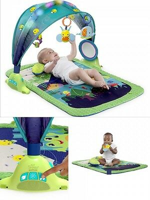 Baby Gym Infant Playmat Lights Sound Play Fun Learning Floor Mat Activity Toy