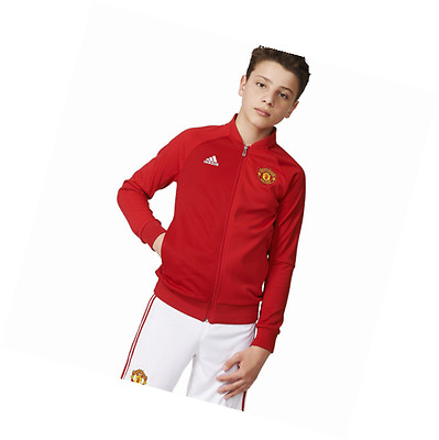 adidas AP1796 Manchester United FC Anthem Jacket Youth 1 Power Red/Real Red L/G