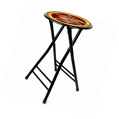 Trademark Global Anheuser Busch A and Eagle Cushioned Stool, Black, 24-Inch