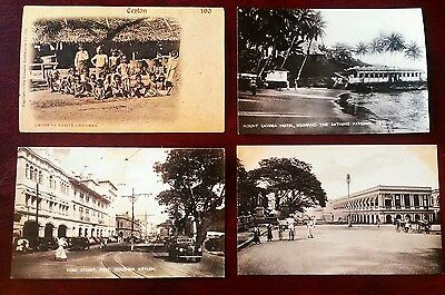 4 x original early postcards of Ceylon (now Sri Lanka) lovely cards
