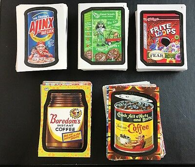 Topps Wacky Packages Complete ANS6 ANS7 ANS8 Flashback 1 & 2 Sets - TAKE ALL 5