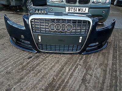 Genuine Audi A4 B7 S Line FRONT BUMPER WHIT GRILLE  2005 - 2008  SPORT