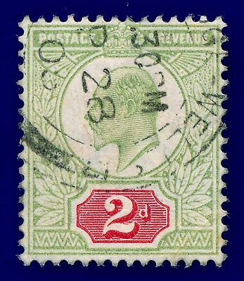 1902 SG225 2d Yellow-Green & Carmine Red M11(1) Fine Used c.£25 AEQT