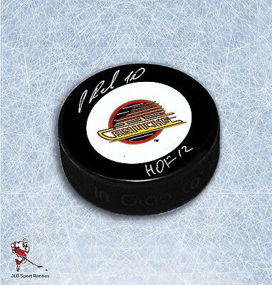 Pavel Bure Vancouver Canucks Autographed Puck With HHOF12 Inscription