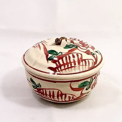 Signed Antique Japanese Donabe Asian Earthenware Pottery Bowl With Lid
