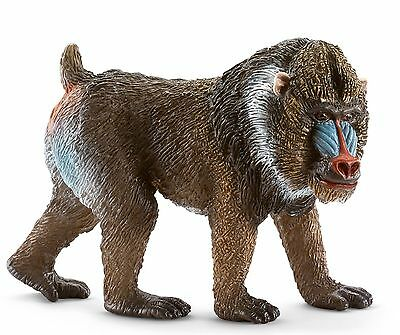 Schleich Male Mandrill Toy Figure New with tag Item 14715, Possible Free Ship