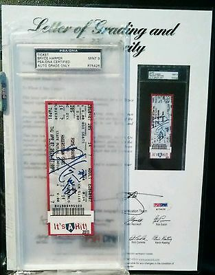 2011 BRYCE HARPER Suns Baseball DEBUT Signed Auto Ticket Nationals PSA Mint 9