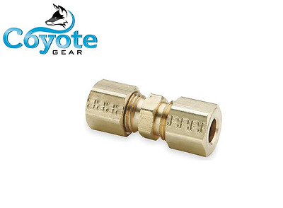 """Brass 5/16"""" x 5/16"""" Tube Compression Connector Union Fitting Coyote Gear USA"""